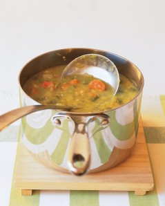 Martha Stewart's Split Pea Soup (containing all our curative ingredients)Click for recipe