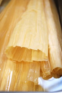 Tamales in the making at Bayou Bakery