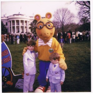 My boys in their searsucker, White House Easter Egg Roll
