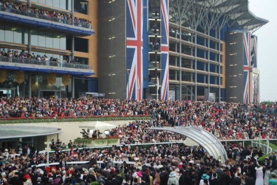 The crowds at the Royal Ascot