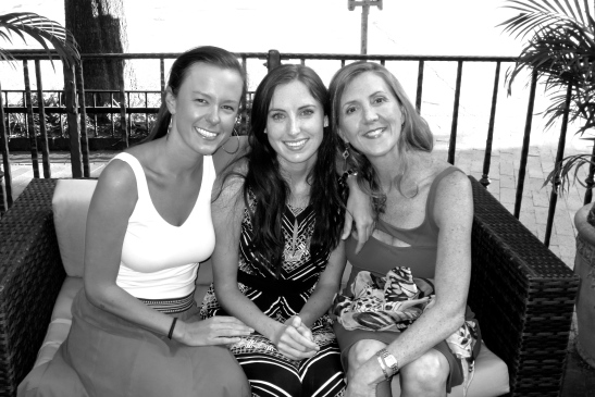 Me with my M&M girls, Meaghan (left) and Meg (middle), the bride-to-be!