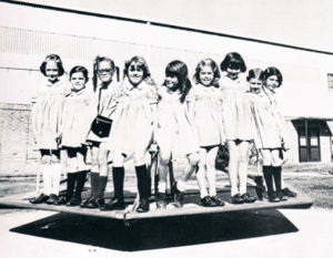 Me (second from the right) with a few of my Catholic school classmates