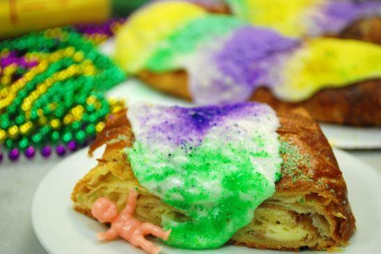 King Cake Slice